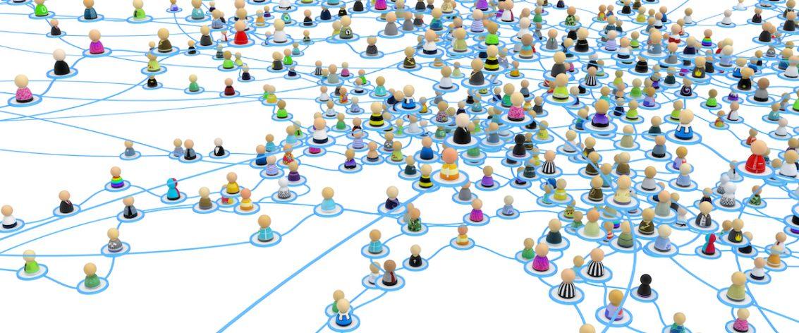 Networked people cartoon