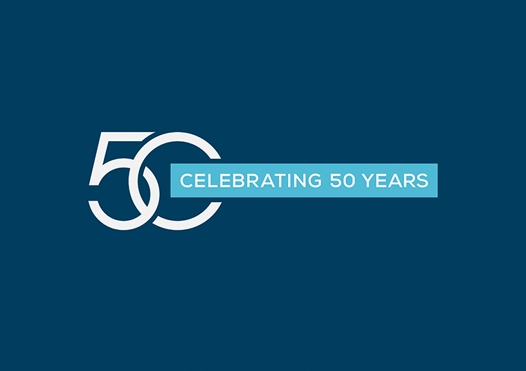 Clayton Church Homes celebrating 50 years logo