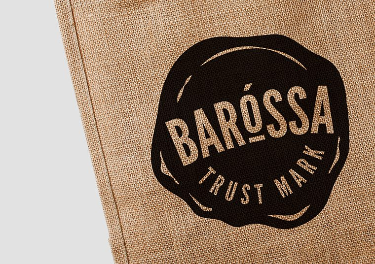 Barossa Trust Mark logo printed on reusable bag designed by communikate