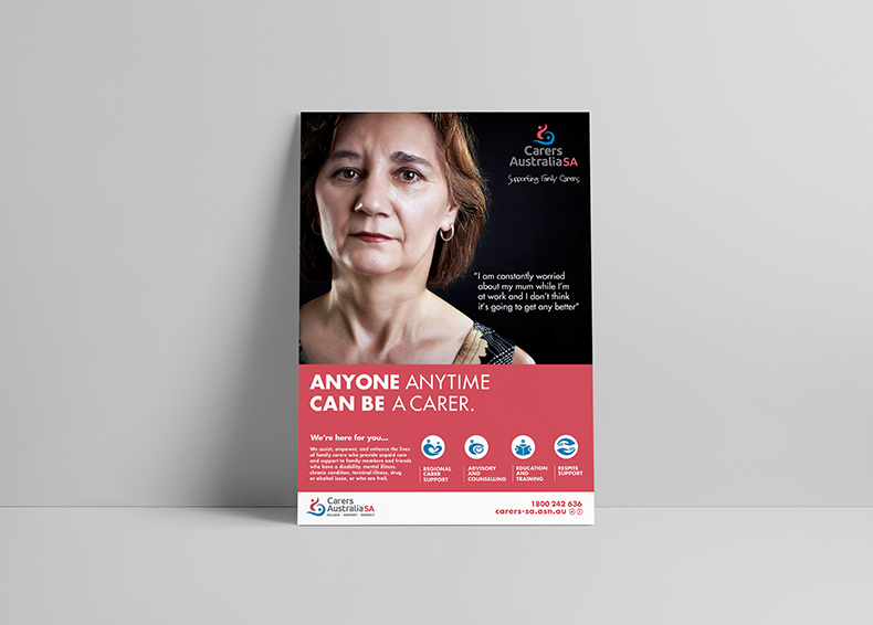 Carers SA poster designed by communikate et al
