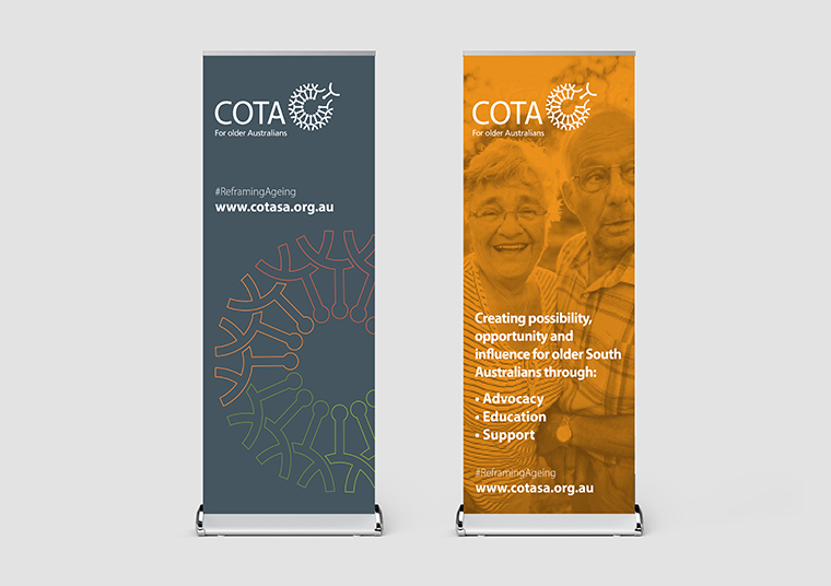 COTA SA pull up banners designed by communikate