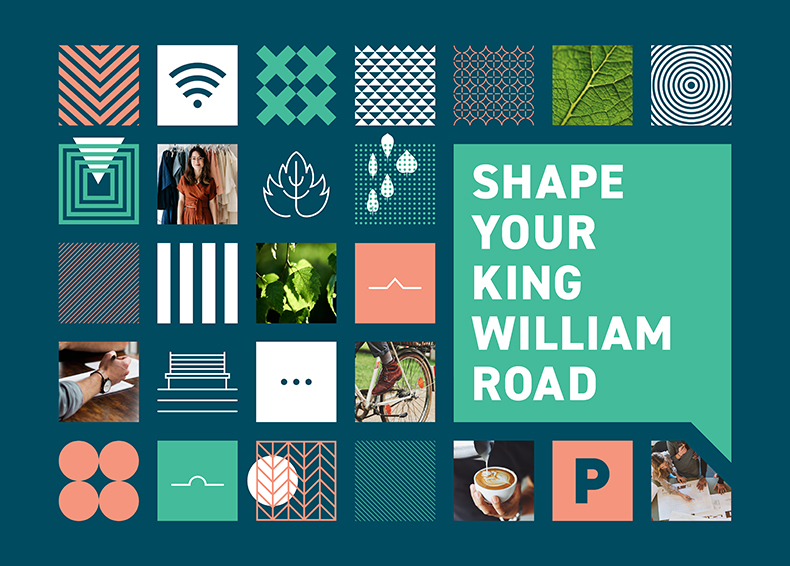 Design King William collateral designed by communikate