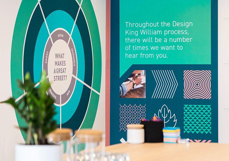Design King William signage designed by communikate