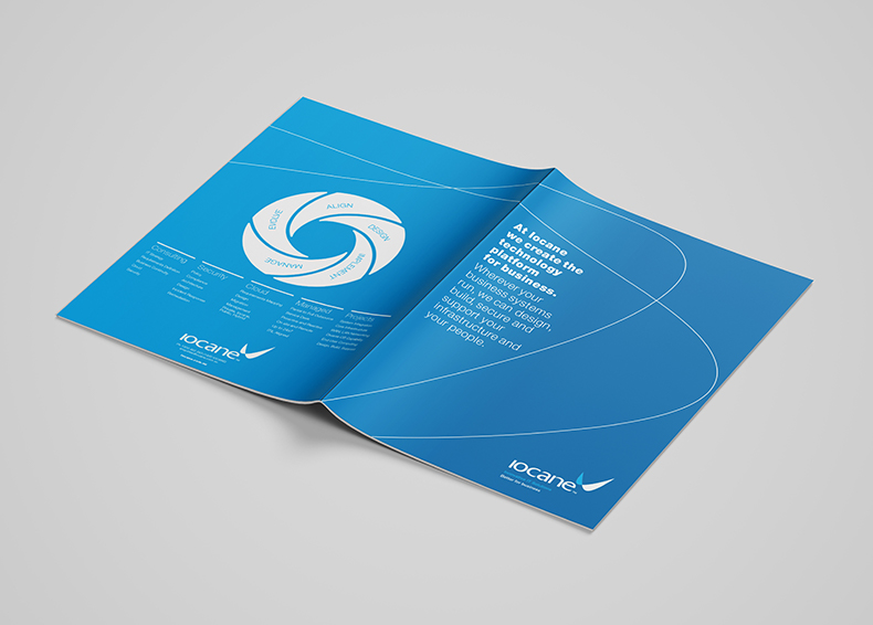 Iocane booklet designed by communikate et al