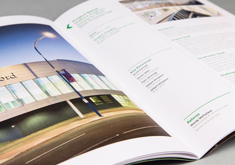 Open Kennett Builders booklet designed by communikate et al