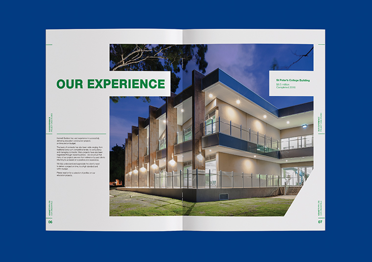 Kennett Builders booklet designed by communikate et al