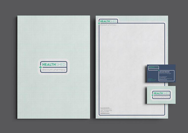 Nexus Pharmacy stationary designed by communikate et al