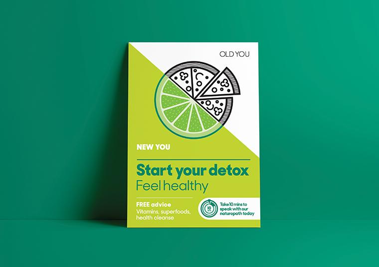 Nexus Pharmacy start your detox poster designed by communikate
