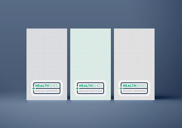 Nexus Pharmacy paper bags designed by communikate et al