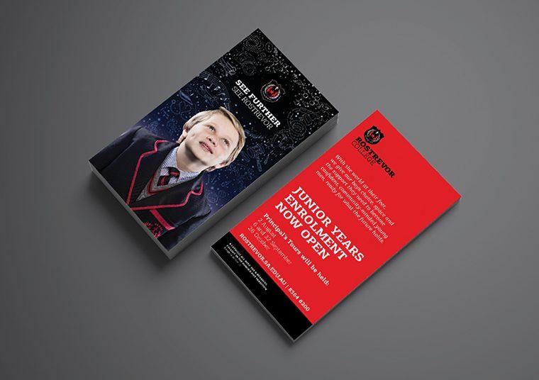 Rostrevor College junior years enrolment brochures designed by communikate