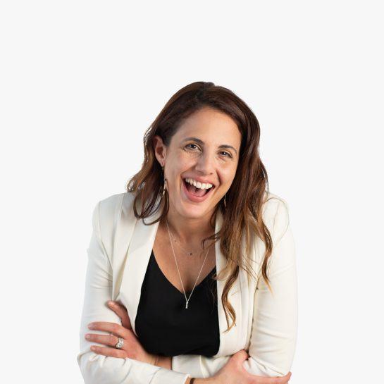 Katherine Kotaras Graphic Designer laughing