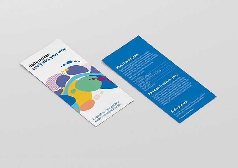 Daily Moves brochure designed by communikate et al