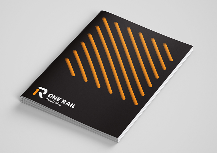 One Rail Australia magazine designed by communikate