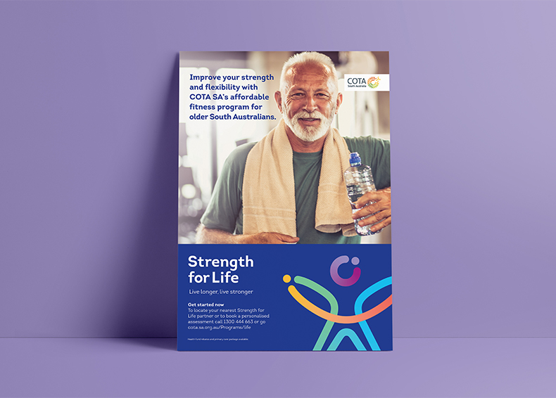 Strength for Life poster designed by communikate et al