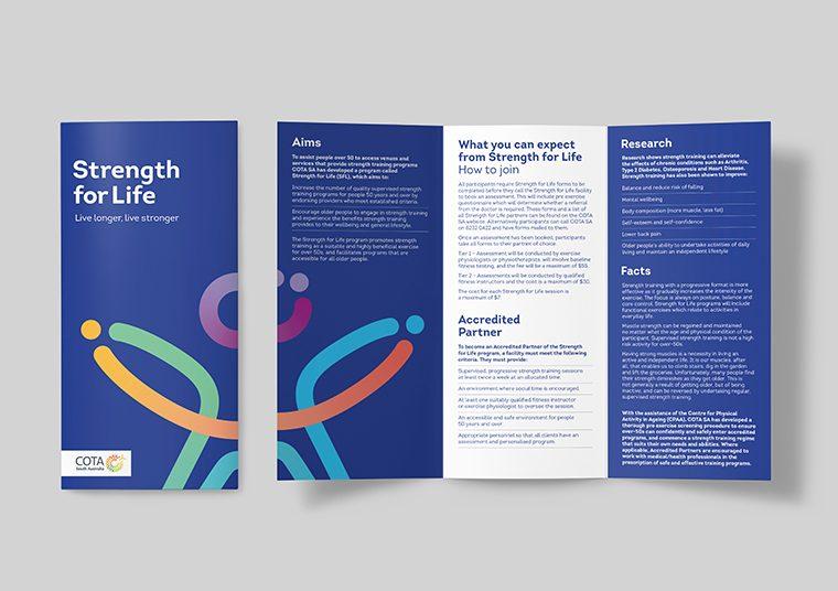 Strength for Life brochure designed by communikate et al