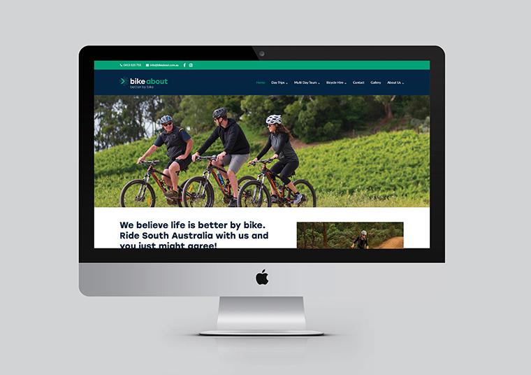 Bike About updated website designed by communikate et al
