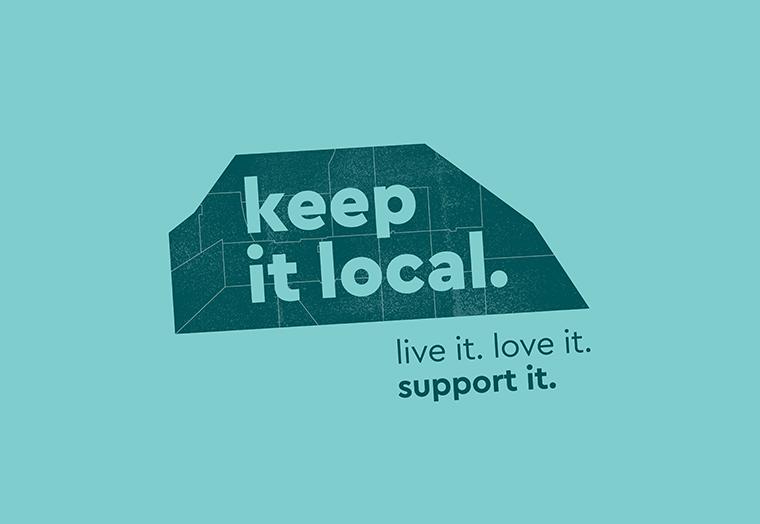 Keep it Local logo designed by communikate et al