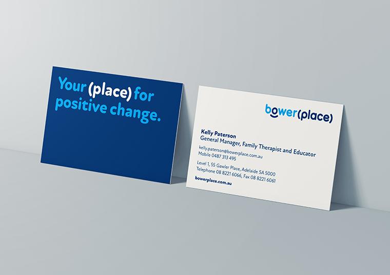 Bower Place business cards designed by communikate et al