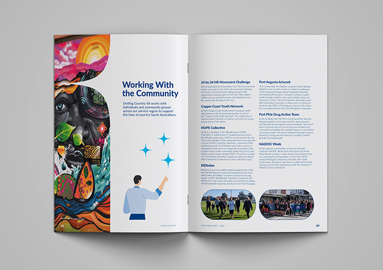 Uniting Country SA open annual reports designed by communikate et al