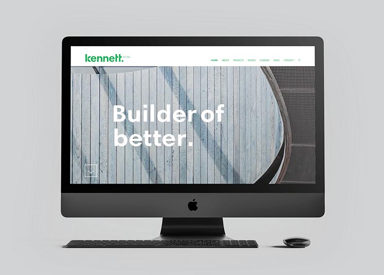 Kennet Builders website mockup