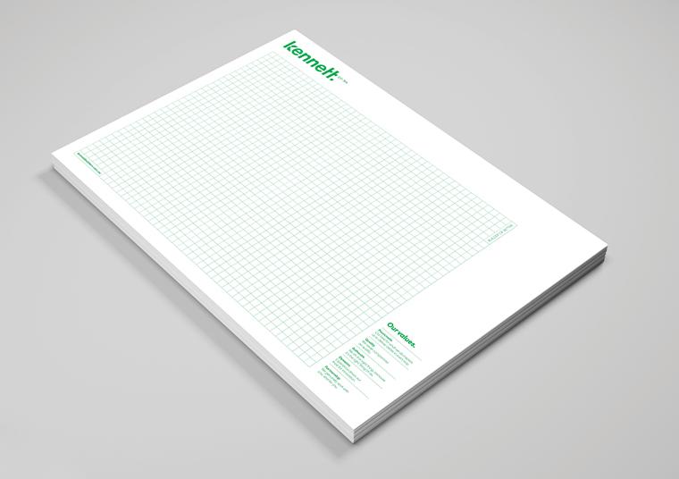 Branded Kennett Builders notepad